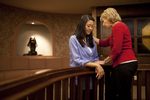 Hannah Mun and Peg Hutchins Praying in Fletcher - 6