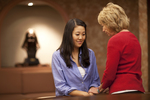 Hannah Mun and Peg Hutchins Praying in Fletcher - 10