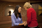 Hannah Mun and Peg Hutchins Praying in Fletcher - 14
