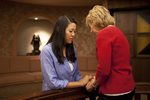 Hannah Mun and Peg Hutchins Praying in Fletcher - 15