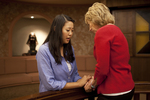 Hannah Mun and Peg Hutchins Praying in Fletcher - 16