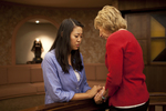 Hannah Mun and Peg Hutchins Praying in Fletcher - 17