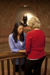 Hannah Mun and Peg Hutchins Praying in Fletcher - 18