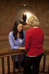 Hannah Mun and Peg Hutchins Praying in Fletcher - 20