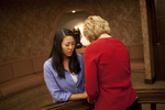 Hannah Mun and Peg Hutchins Praying in Fletcher - 21