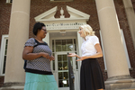 Casondra Radford and Chris Johnson on the Steps of the Admin Building - 13