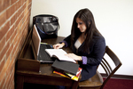 Joy Ames Studying in the Library - 2