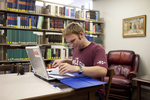 Jonathan Lamb Studying in the Library