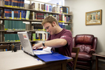 Jonathan Lamb Studying in the Library - 2