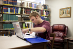 Jonathan Lamb Studying in the Library - 3
