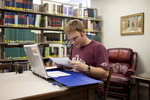 Jonathan Lamb Studying in the Library - 4