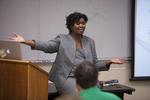 Dr. Anne Gatobu Lecturing