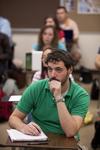 Andrew Hamilton Listening in Class