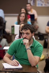 Andrew Hamilton Listening in Class - 2