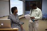 Dr. Anne Gatobu and David Ntogohnya Talking