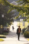 A Male and Female Student Walking on Campus - 2