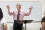 Dr. Bill Goold Directing a Singing Sems Rehearsal - 3