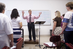 Dr. Bill Goold Directing a Singing Sems Rehearsal - 8
