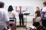 Dr. Bill Goold Directing a Singing Sems Rehearsal - 9