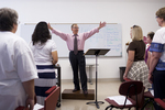Dr. Bill Goold Directing a Singing Sems Rehearsal - 11