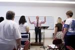 Dr. Bill Goold Directing a Singing Sems Rehearsal - 18