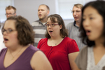 Elizabeth Shaw Singing in a Singing Sems Rehearsal - 2