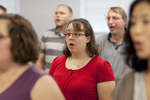 Elizabeth Shaw Singing in a Singing Sems Rehearsal - 4