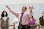 Dr. Bill Goold Directing a Singing Sems Rehearsal - 21