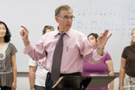 Dr. Bill Goold Directing a Singing Sems Rehearsal - 22
