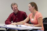 Dr. Chris Kiesling Talking with a Female Student - 3