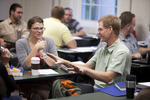 Heather Doss and Scot Hoeksema in Dr. Joe Dongell's Class