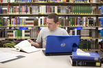 Jason Aycock in the Library