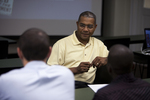 Dr. Russell West Talking with Students - 5