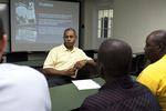 Dr. Russell West Talking with Students - 7