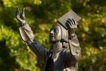 John Wesley Statue (Close-Up)