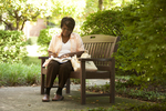 Irene Kabete Studying Behind the Library - 2