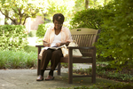 Irene Kabete Studying Behind the Library - 3