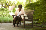 Irene Kabete Studying Behind the Library - 4
