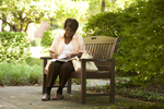 Irene Kabete Studying Behind the Library - 5