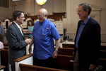 Dr. Tim Tennent, Dr. George Hunter, and Dr. Joe Dongell in Estes Chapel