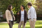 Sarah Jackson, Mel Howard, and Jordan McFall Talking on Campus - 2