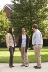 Sarah Jackson, Mel Howard, and Jordan McFall Talking on Campus - 3