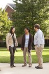 Sarah Jackson, Mel Howard, and Jordan McFall Talking on Campus - 4