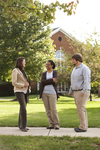 Sarah Jackson, Mel Howard, and Jordan McFall Talking on Campus - 5