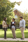 Sarah Jackson, Mel Howard, and Jordan McFall Talking on Campus - 6