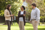Sarah Jackson, Mel Howard, and Jordan McFall Talking on Campus - 7