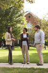 Sarah Jackson, Mel Howard, and Jordan McFall Talking on Campus - 8