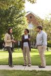 Sarah Jackson, Mel Howard, and Jordan McFall Talking on Campus - 9