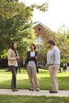 Sarah Jackson, Mel Howard, and Jordan McFall Talking on Campus - 11