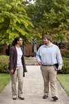 Mel Howard and Jordan McFall Walking in Wesley Square - 4